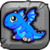 Blue Fire Dragon Baby Icon