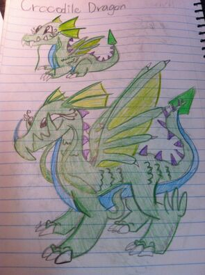 Crocodile Dragon Art