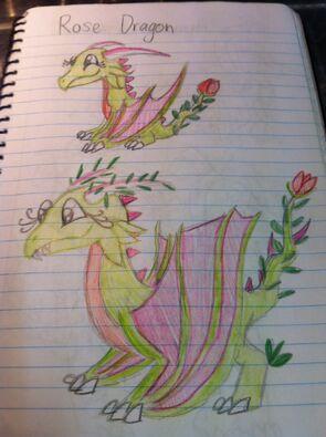Rose Dragon Art