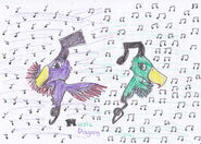 Music dragons