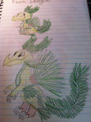 Fern Dragon Art