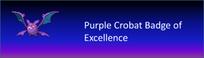 Purple Crobat Badge of Excellence