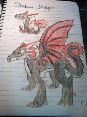 Shadow Dragon Art