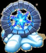 Kristalline Schneeflocke