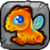 Amber Dragon Baby Icon