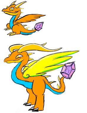Topaz Dragon Art