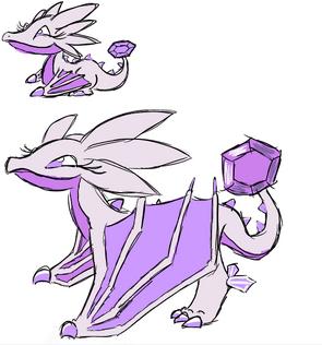 Amethyst Dragon Art