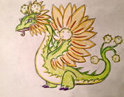 Dandelion Dragon Art
