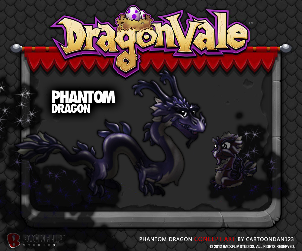 phantom official copyjpg - Dragonvale Dragons Coloring Pages