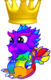 RainbowDragonBabyCrown