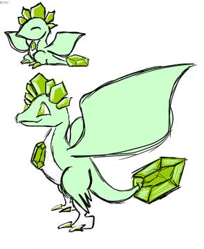 Peridot Dragon Art