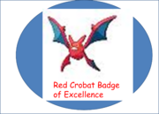 Red Crobat Badge of Excellence