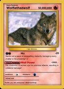 Wolfie's Pixelated Pokemon card!