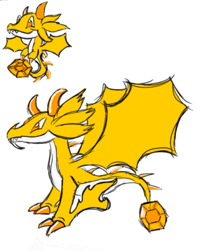 Citrine Dragon Art