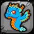 Turquoise Dragon Baby Icon