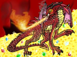 Smaug Dragon - Coloured
