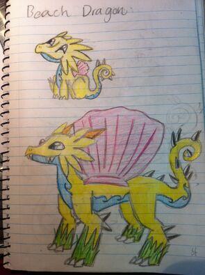 Beach Dragon Art