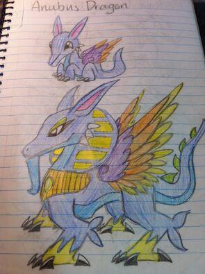 Anubus Dragon Art