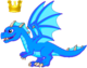 BlueFireDragonAdultCrown