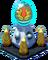 Gold Olympus Twin Pedestal