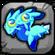 Aquamarine Dragon Baby Icon