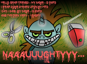 46676 - Courage the Cowardly Dog Freaky Fred artist dachimotsu crossover freaky snips snips