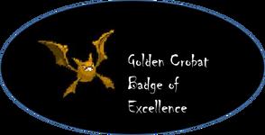 Golden Crobat Badge of Excellence