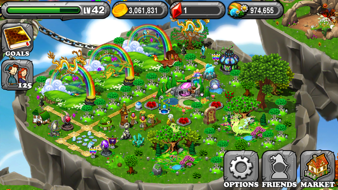 how to create a rainbow dragon in dragonvale