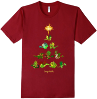 DragonValeT-Shirt-HolidayDragonTree-Cranberry