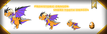 Dragonvale prehistoric sabre tooth