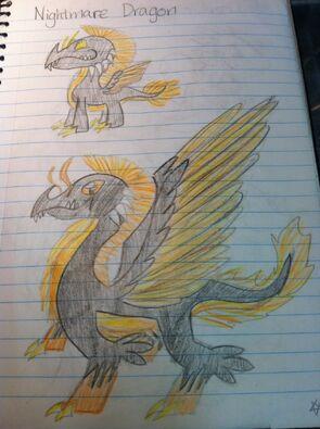 Nightmare Dragon Art