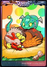 Card chiken-snake