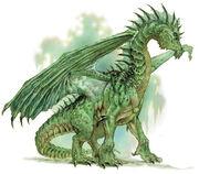 Green european dragon
