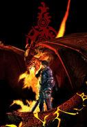 Render de Caim y Angelus - Drakengard