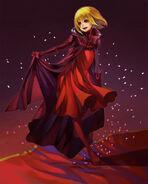 Artwork de Manah bailando - Drakengard