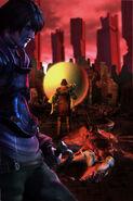 Render de la transformación de Furiae - Drakengard