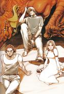 Artwork de Caim, Angelus, Inuart y Furiae - Drakengard