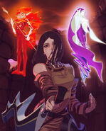 Artwork de Arioch, Salamandra y Undine - Drakengard