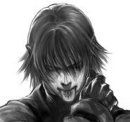 Esbozo de Cain con su marca - Drakengard