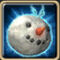 Катящаяся голова снеговика