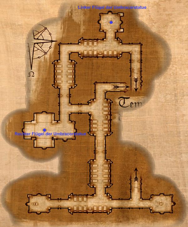 Flügel der Umbracorstatue Map