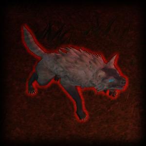 Кроворождённый полярный волк