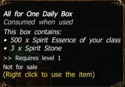 All for One Daily Box