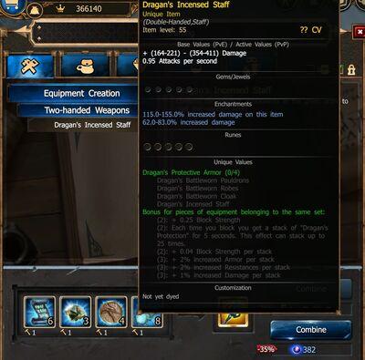 Dragan's Incencsed Staff craft RoD V