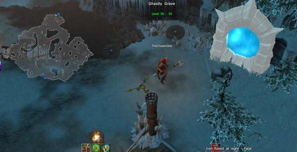 Ghastly Grave portal spawn CoT V