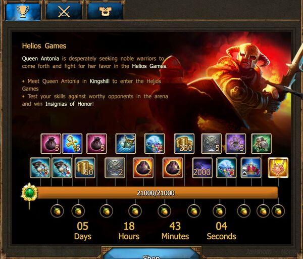 Helios Games IV progress F