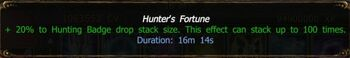 Hunter's Fortune buff