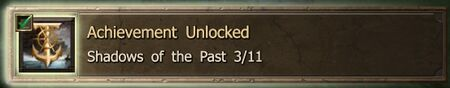 Shadows of the Past 3-11 end Achievement