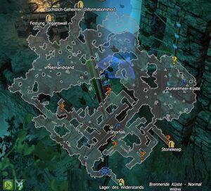 Map - Brennende Küste