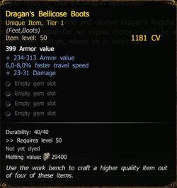 Dragan's Bellicose Boots T1 SW